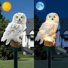 XMAS60 – <b>Owl Solar Light</b> With <b>Solar LED</b> Panel Fake <b>Owl</b> – Outfits ...