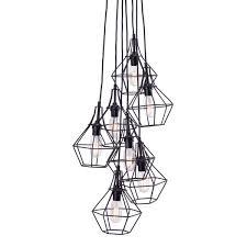 modern industrial pendant lighting. Zuo Modern Palmerston Caged MultiBulb Pendant Lamp Industrial Lighting N
