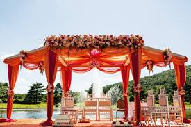 indian wedding mandap for outdoor ceremony
