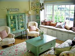 country cottage style living room. Farnhouse Country Cottage Style Living Room With Cupboard And Coffee Table Peeling Paint