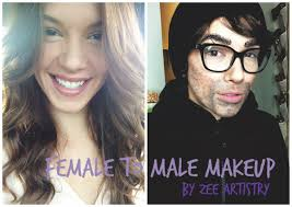 female to male makeup tutorial highlight contour by zee artistry you