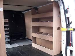 how to build shelves in a cargo van