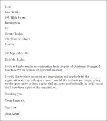 Management Resignation Letter Professional Resignation Letter Formatpdf Tripevent Co