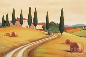 landscape painting rural italian landscape i by leigh banks