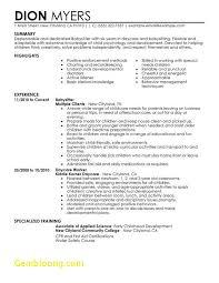 Nanny Resume Examples New Download Elegant Nanny Resume Examples B60online