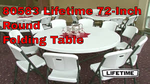lifetime 80583 72 round white granite 12 pack tables and 120 chairs