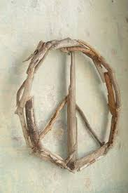 peace sign wall art driftwood door decor wreath images of flower outdoor