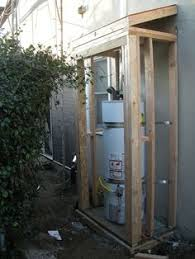 exterior water heaters. water heater shed (1/19/08) | this is more exciting than exterior heaters e