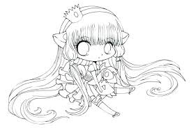 Chibi Coloring Pages Easy Cute Girl Colouring Elegant Free Printable