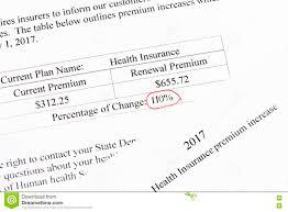 Insurance Premium Increase Stock Image Image Of Medicine 81393467