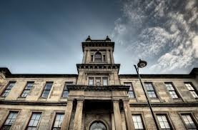 old architectural photography. Garnethill School Old Building Hdr Wide Angle Lens Blue Sky Clouds Photography Photo Image Glasgow Scotland Architectural
