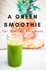 cancer survivors can give themselves a nutritional boost for healing with the green smoothie recipe from brio survivor wellness