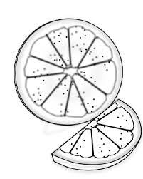 orange clipart black and white. orange clipart black and white food slice line art id-