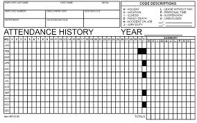 Attendence Tracker Employee Attendance Tracker Form