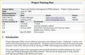 Training Proposal Timeline Template Schedule Excel Free