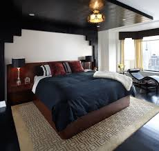 Black Ceilings masculine bedroom with black ceiling navy bedspread and builtin 1925 by uwakikaiketsu.us