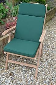 Classic Garden Recliner Chair Seat Pad and Back Cushion Cushion