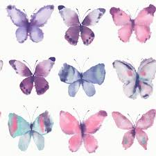 Purple Wallpaper For Bedroom Girls Bedroom Butterfly Wallpaper In Pink White Teal More New
