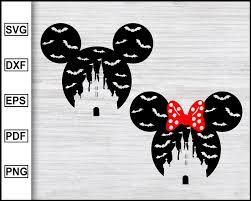 Mickey Mouse Halloween svg | Minnie Mouse Halloween svg | Disney Hallo –  Editable SVG File