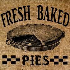 Burlap Digital Download Fresh Baked Pies Pie Vintage Bakery Etsy