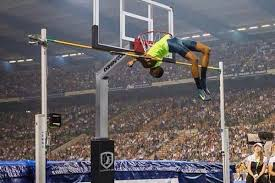 Someone who competes in the high jump. Comparing A 2 43 Meter High Jump To A Basketball Hoop Puts It In Perspective Bleacher Report Latest News Videos And Highlights