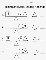 worksheet 1 2 3 4 missing addend balancing equations math aids 83b192b67b7f537cf4e7925e739 balancing math equations worksheet