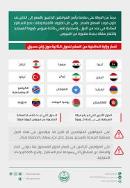 وزارة الداخلية السعودية تحذر من السفر إلي الدول المحظورة وأسماء تلك الدول  المحظورة - ثقفني