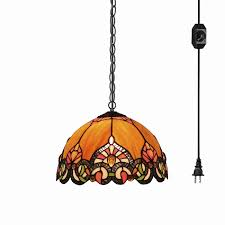 tiffany baroque style glass lampshade ceiling lamp colorful chandelier with 15ft plug in ul on