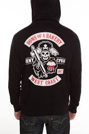 Johnny Cupcakes Design Johnny Cupcakes Sons Of A Bakery Sons Of Anarchy Zip Up