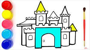 44+ Tranh tô màu lâu đài đẹp, nguy nga
