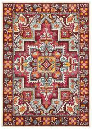 oriental weavers bohemian 5330r red pink area rug
