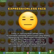 A yellow face with flat, closed eyes and mouth. Jadii Jangan Salah Pakai Emoji Ya Guys Meme Rage Comic Indonesia Facebook