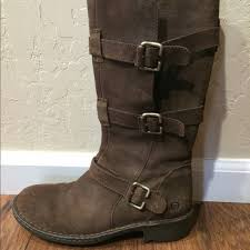 born boots born brown suede leather boots size 10