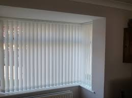 Modern Vertical Blinds In White For Window With Vinyl Material Blinds Design