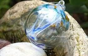ooak Winter Blue Gwendolyn Glass Fairy Ball,fairy orb,fairy glass,witchball  | eBay