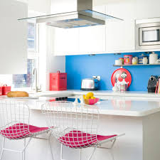 White Kitchen With Red Accents Kitchen Colour Schemes