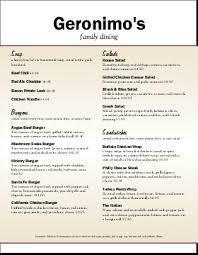 family menu template family restaurant menu template musthavemenus