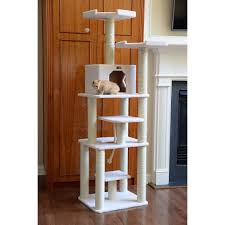 delectable design ideas of unique cat trees with white color tower condo and cube cat housing chic cat furniture