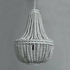 vintage retro white wooden bead pendant lights loft lamp with led bulbs beaded chandelier uk