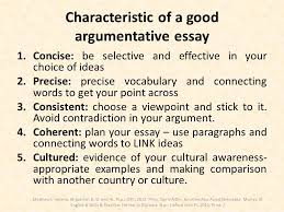 characteristics of an essay ib dp language b strategies to succeed  ib dp language b strategies to succeed at the externally assessed characteristic of a good argumentative