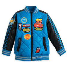 this cars 3 jacket 39 95 will keep him racing all through the cold winter months the jacket is fleece lined and quilted with puffy patches of lightning