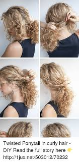 hair and german age twisted ponytail in curly hair