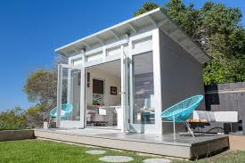 a 10 foot by 12 foot studio shed signature series model makes a roomy backyard home office courtesy of studio shed com