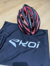 Ekoi Corsa Light Helmet Unisex Ekoi Corsa Light Magnetic Red Safety Bike Helmet Uk Size S M 54 58 Cm New