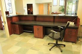 custom made office furniture. custom made zodiac and walnut reception desk office furniture