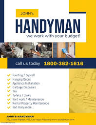 Handyman Flyer Template Amazing Copy Of Handyman Professional Services Flyer Template PosterMyWall
