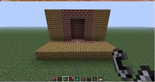 If You Make A Fireplace In A Wooden House Your Going To Have A Fireplace In Minecraft