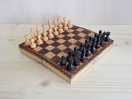Old Fashioned Wooden Games Vintage Wooden Chess Travel Chess Set Small Wooden Chess Toys 59