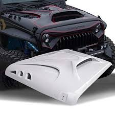 topfirefury hood replacement hood for jeep wrangler 2007 2018 including rubicon