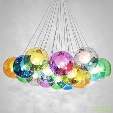 color bubble glass ball 7 37 led pendant lamp chandelier ceiling lights lighting
